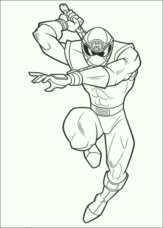 Power Rangers 2017 Force Colouring Pages