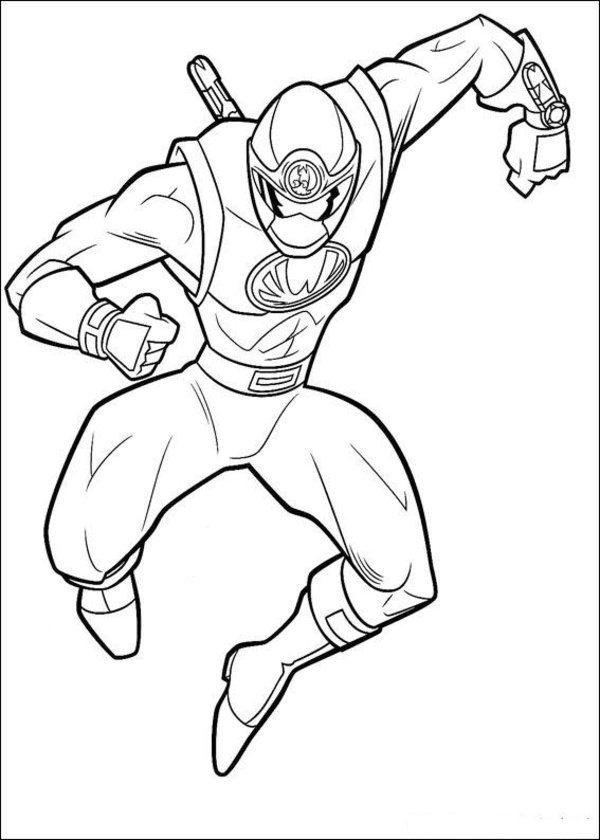Power Rangers Coloring Pages Kids