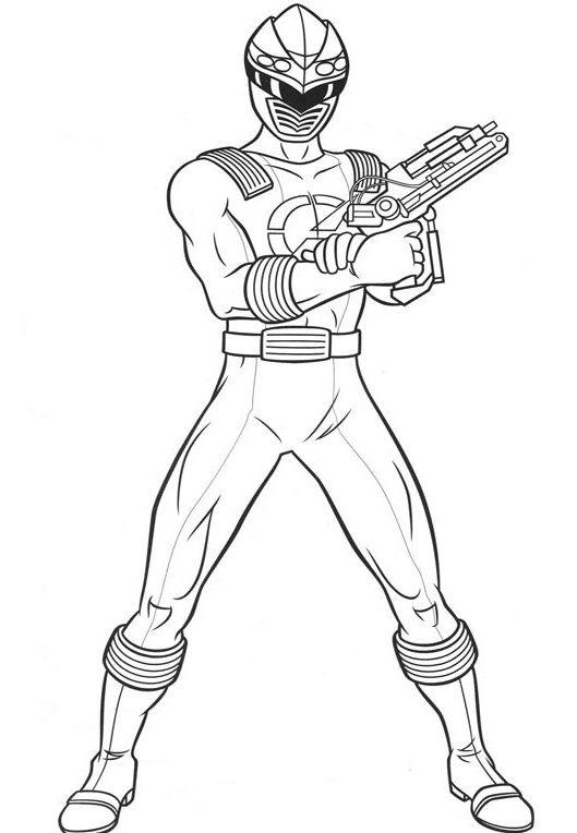 Power Rangers Coloring Pages To Print Out
