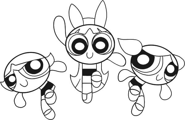 Powerpuff Girl Cartoon Coloring Pages