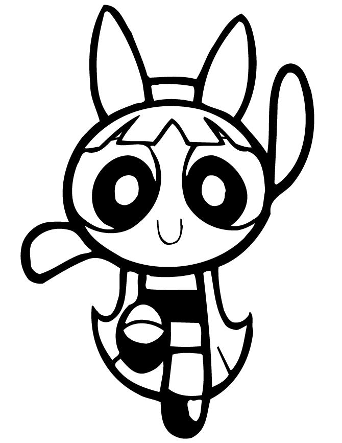 Powerpuff girls coloring pages blossom