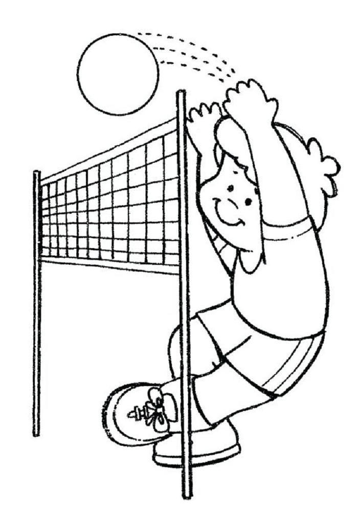 Practice Volleyball Coloring Pages