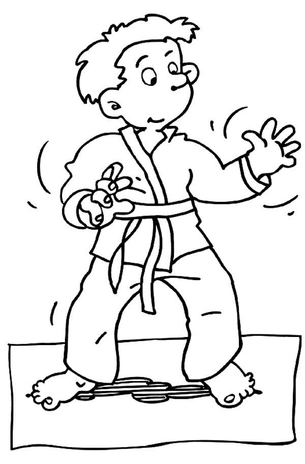 Practising Judo All Alone Coloring Pages