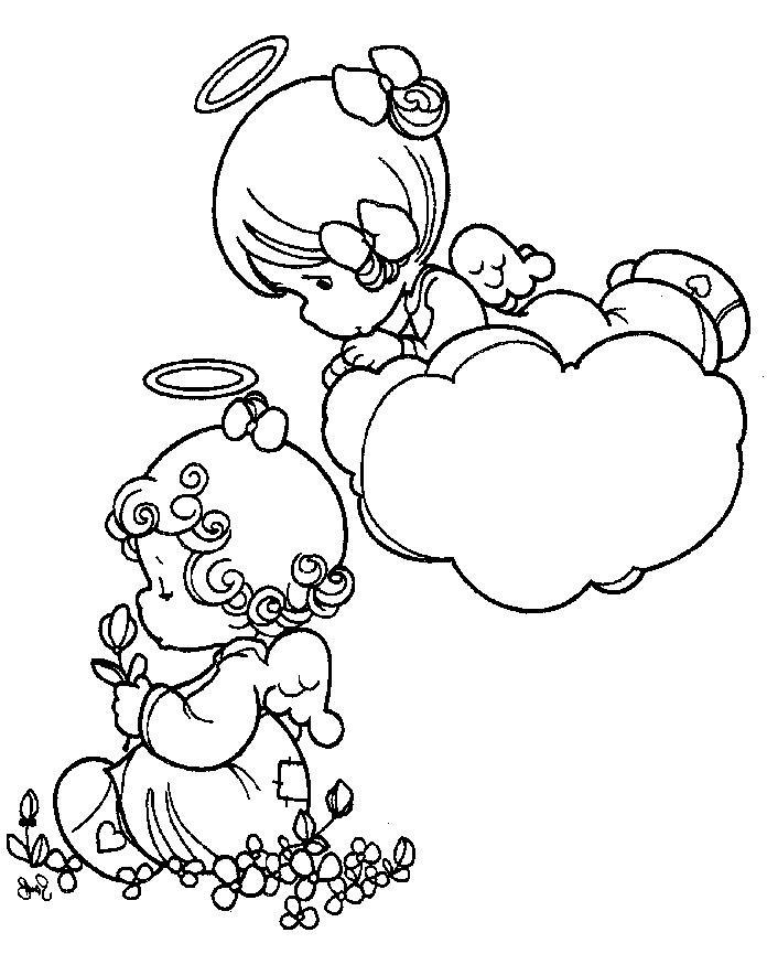 Precious Moments Coloring Pages Angel