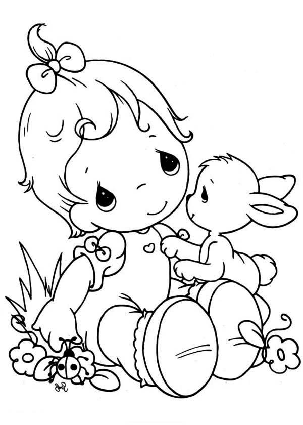 Precious Moments Coloring Pages Baby