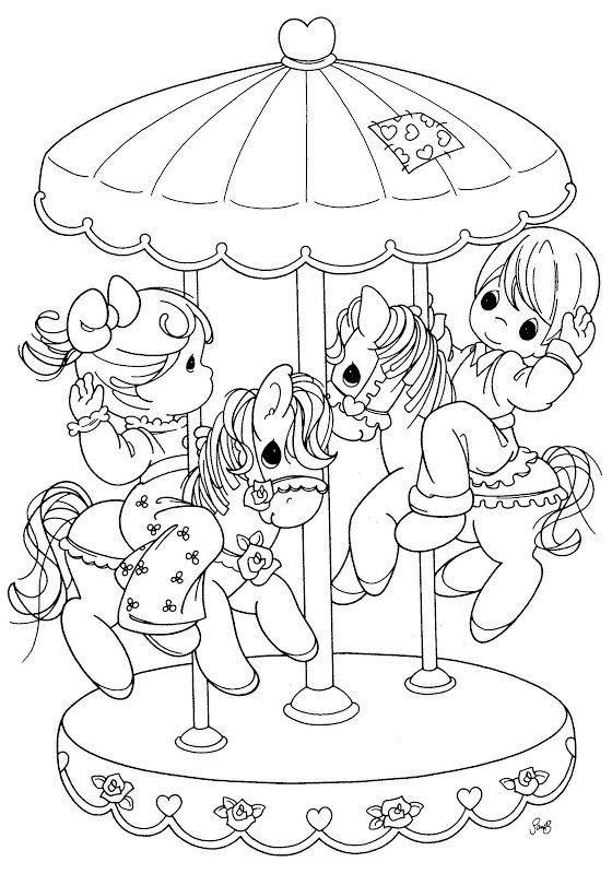 Precious Moments Coloring Pages Carousel
