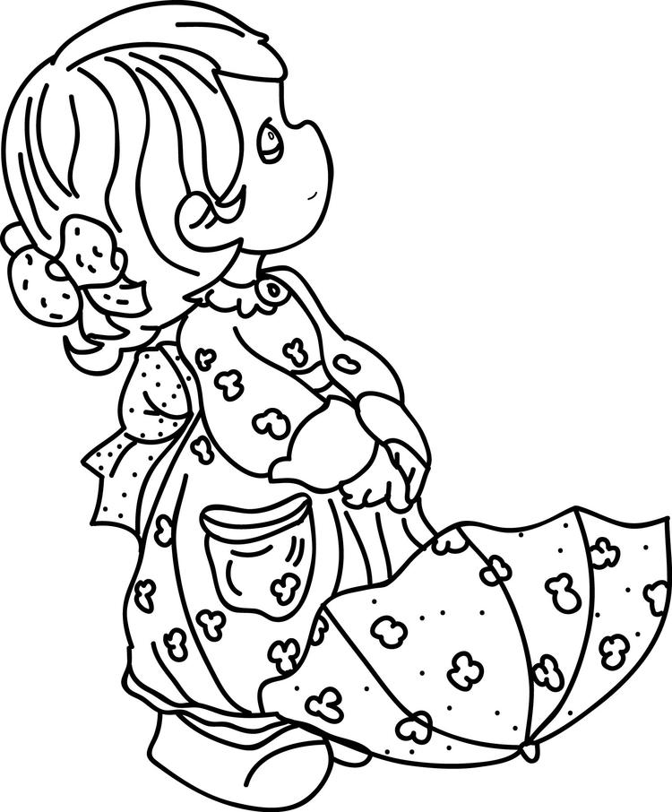 Precious Moments Coloring Pages For Girls Coloring Ideas