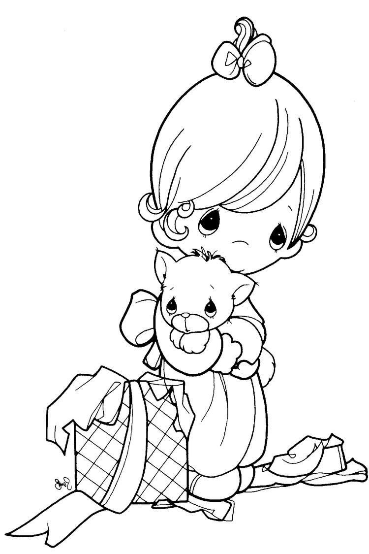 Precious Moments Coloring Pages Gift