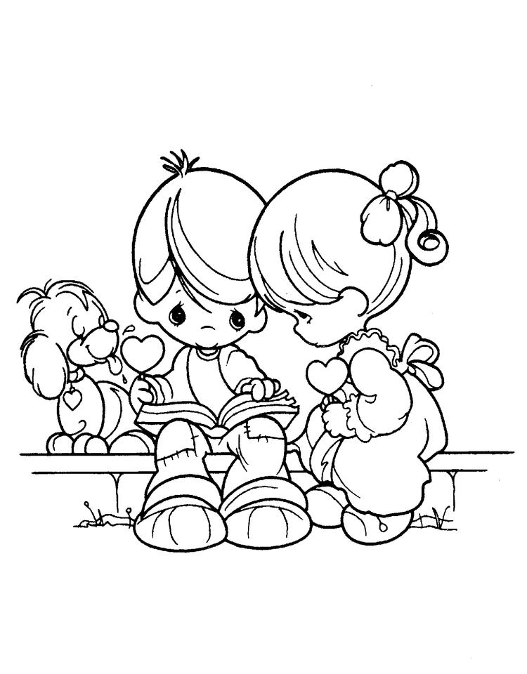Precious Moments Coloring Pages Love Couple