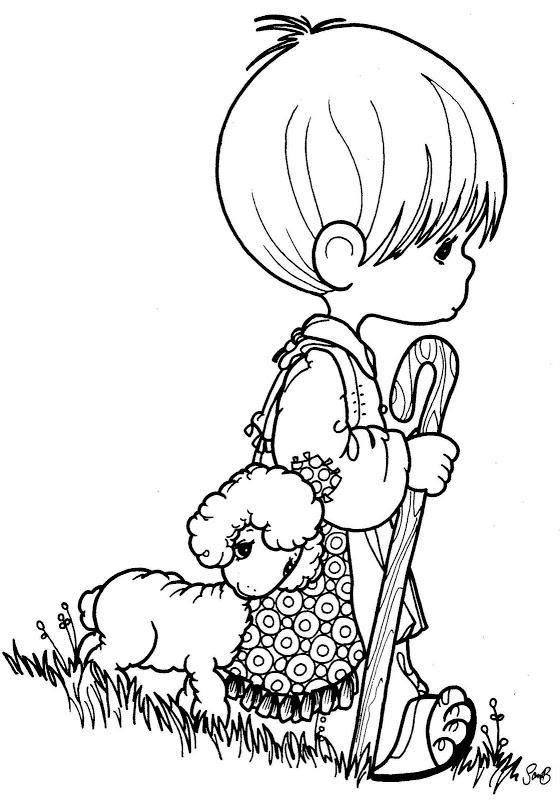 Precious Moments Coloring Pages Religious