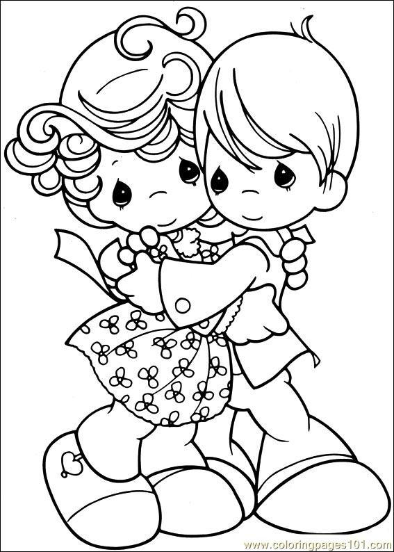 Precious Moments Wedding Coloring Pages For Kindergarten