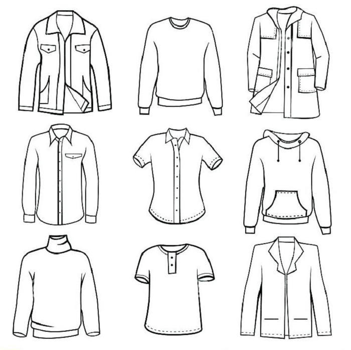 Preschool Coloring Pages Clothes