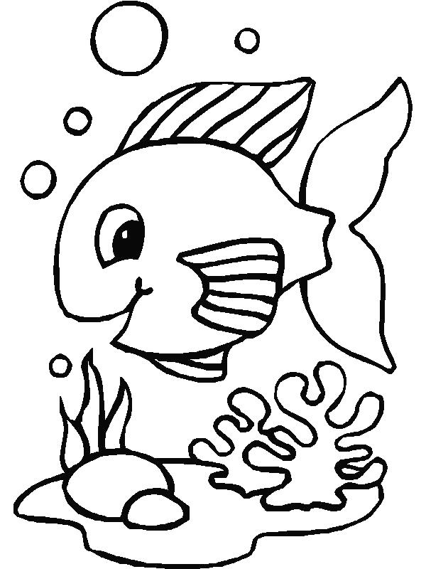 Preschool Coloring Pages Fish