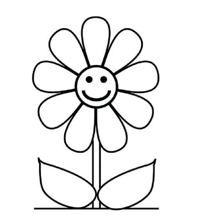 Preschool Coloring Pages Flower