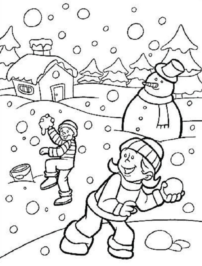 Preschool Coloring Pages Holiday