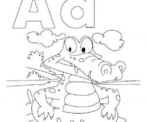 Preschool coloring pages letter a