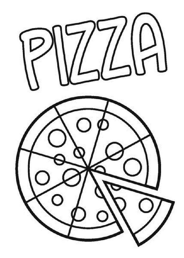 Preschool Coloring Pages Pizza