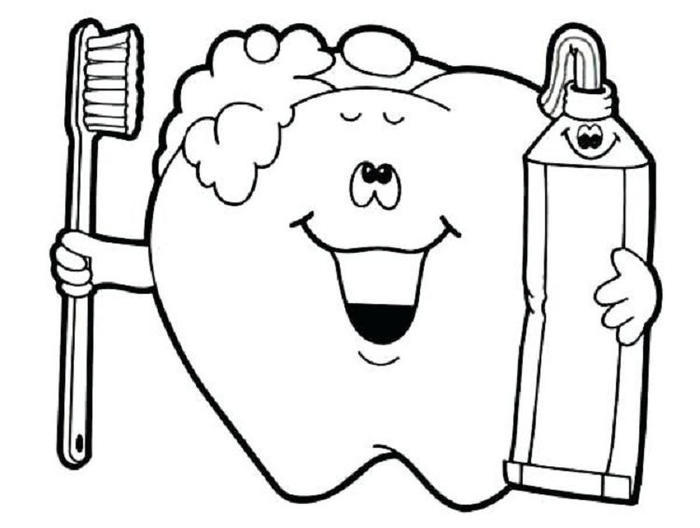 Preschool Coloring Pages Tooth