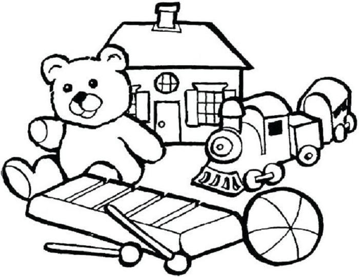 Preschool Coloring Pages Toys