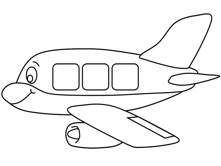 Preschool Coloring Pages Transportation Airplane