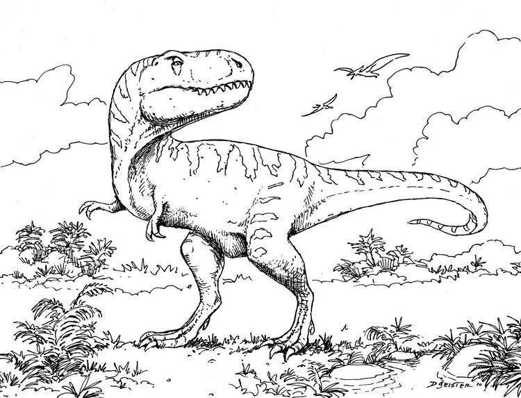Preschool Dinosaurs Coloring Pages