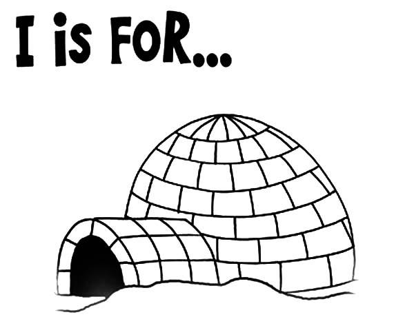 Preschool Kids Learning Igloo Coloring Pages