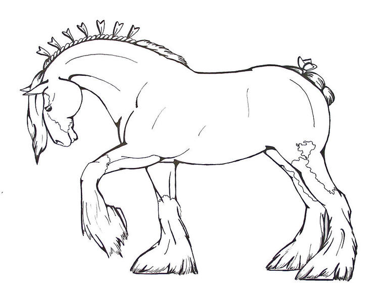 Preschool Lisa Frank Horse Coloring Pages