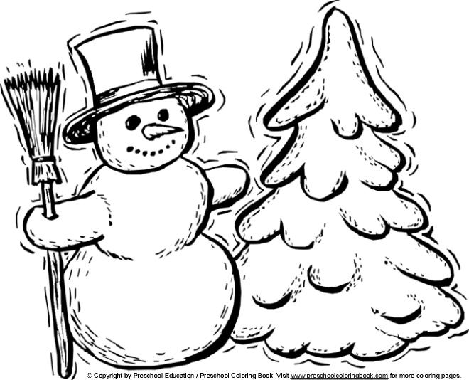 Preschool Winter Coloring Pages Free 1