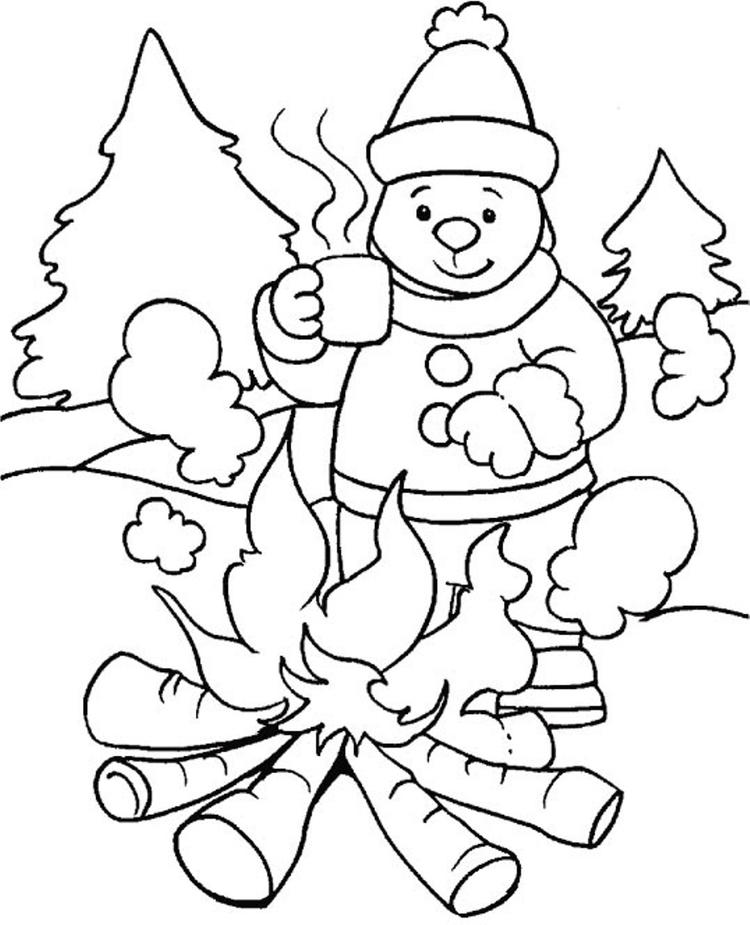 Preschool Winter Coloring Pages To Print 1