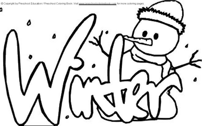 Preschool Winter Coloring Pages To Print