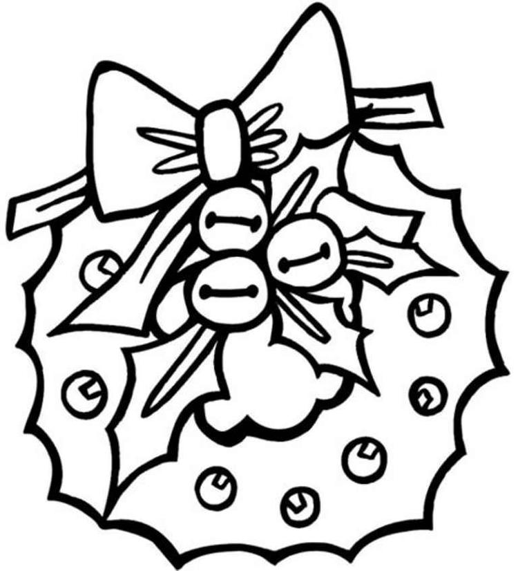 Preschool Wreath Free Coloring Pages For Christmas