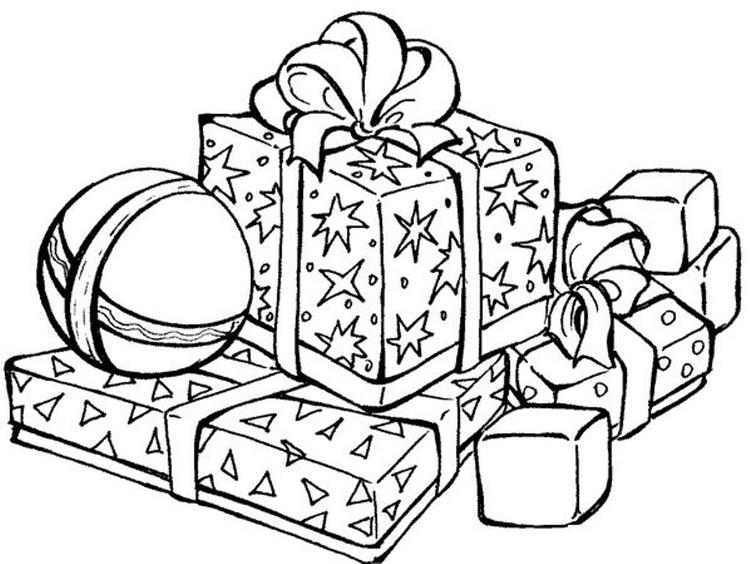 Presents For Christmas Coloring Pages Printable