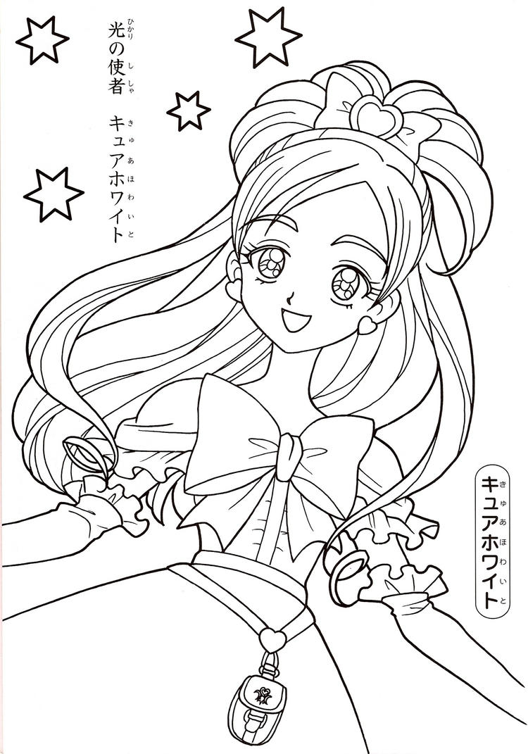 Pretty Anime Coloring Pages