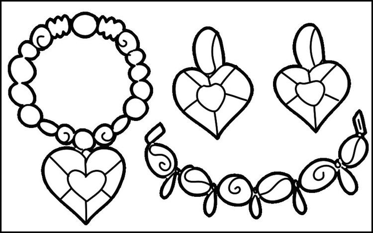 Pretty Awesome Jewelry Collection Coloring Page