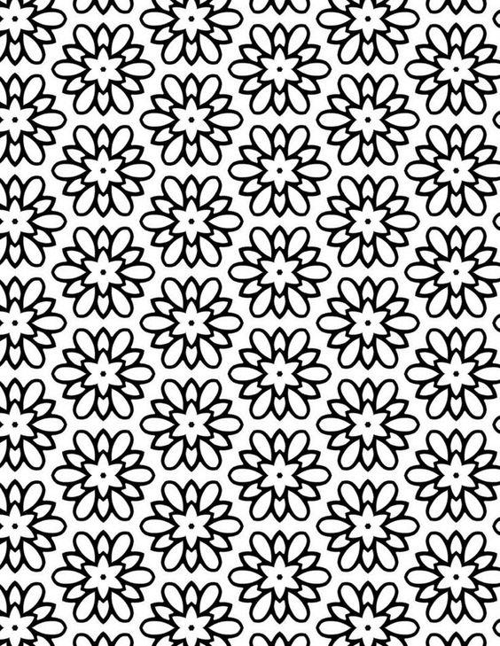 Pretty Coloring Pages Geometric
