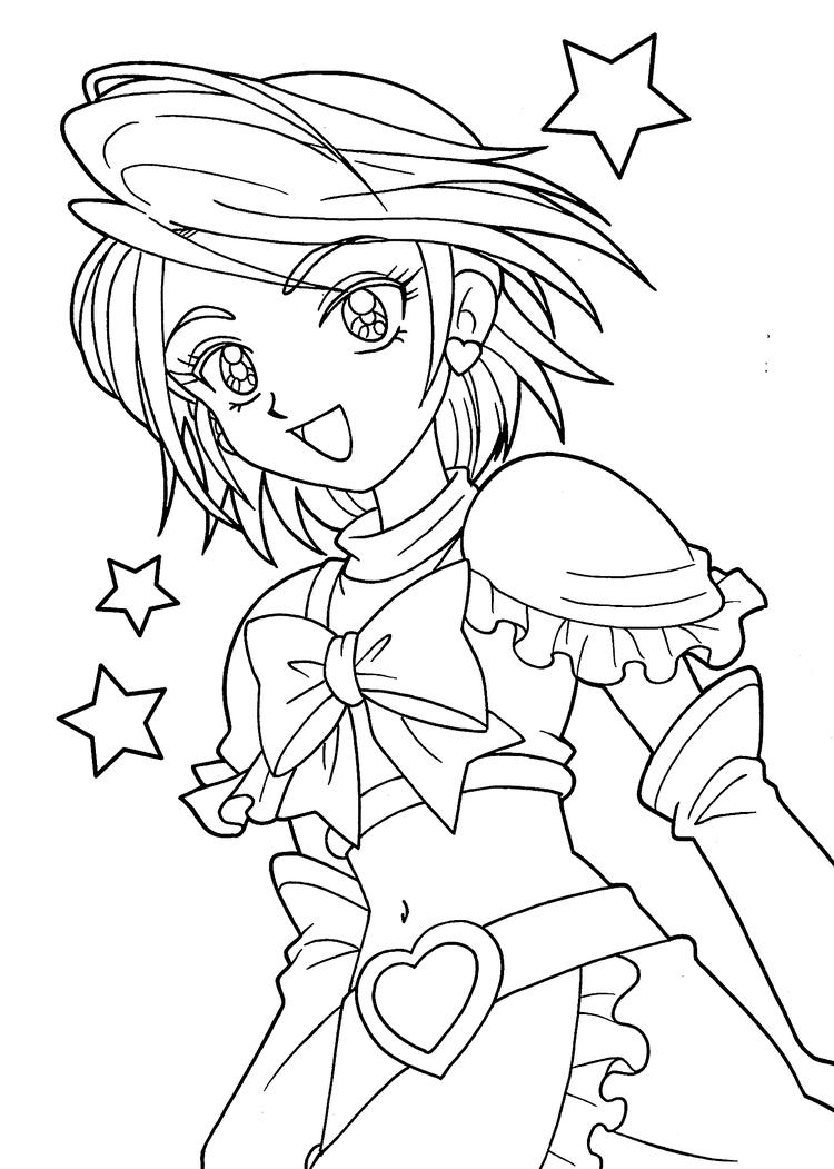 Pretty Coloring Pages Of Anime
