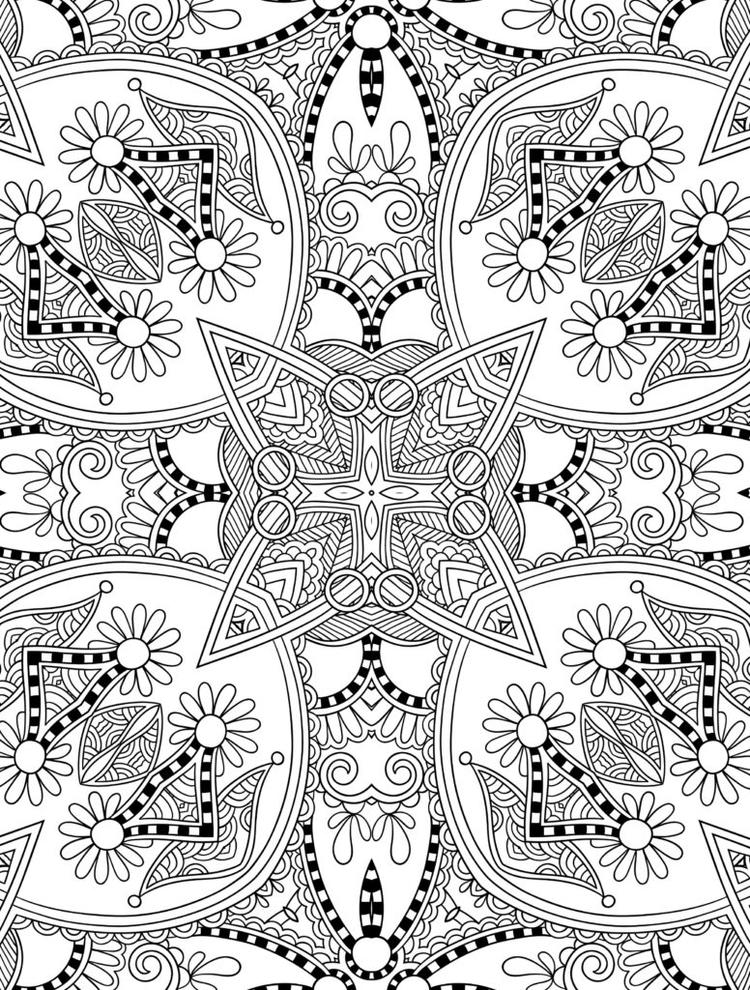 Pretty Geometric Coloring Pages For Adults