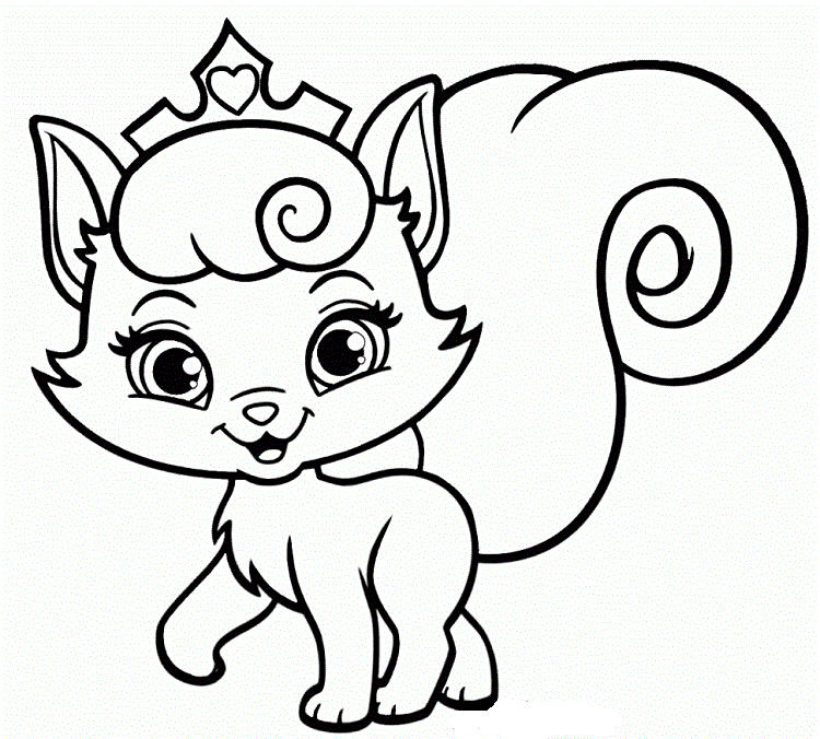 Pretty Kittens Coloring Pages