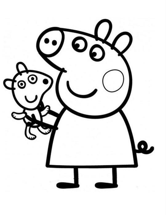 Pretty Peppa Pig Coloring In Pages