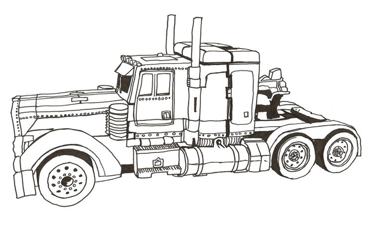 Prime Truck Coloring Pages