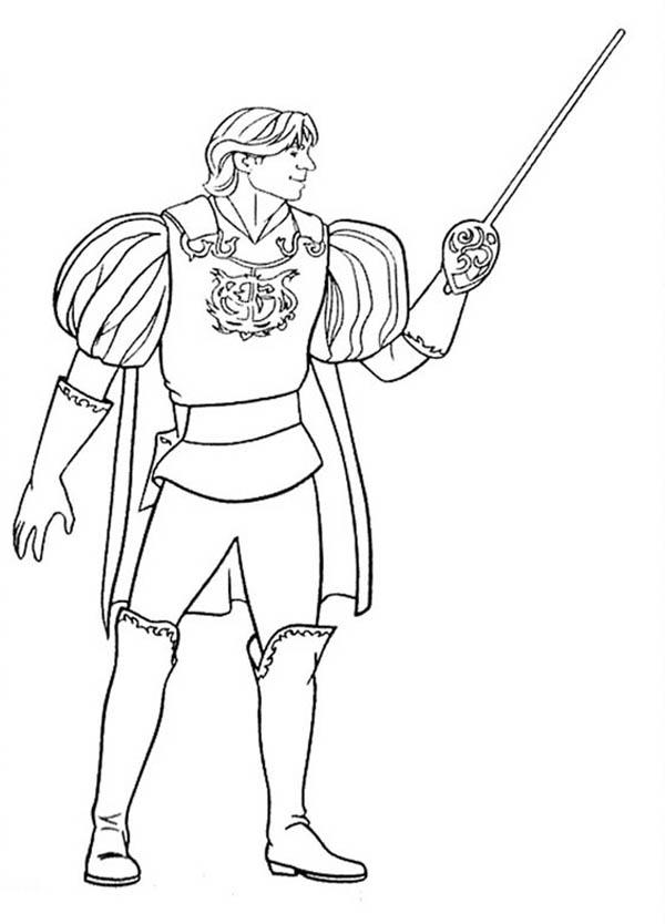 Prince Charming Edward From Enchanted Coloring Pages