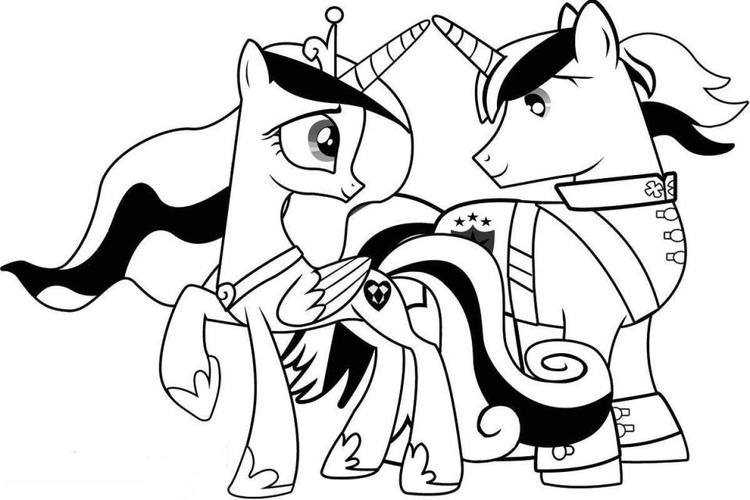 Princess Cadance And Shinning Armor My Little Pony Coloring Pages