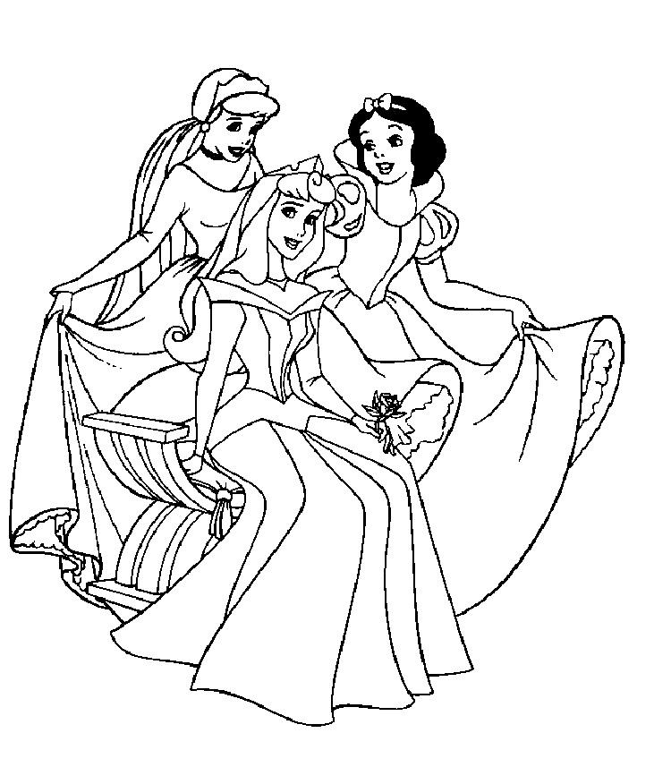 Princess Coloring Book Pages Printable
