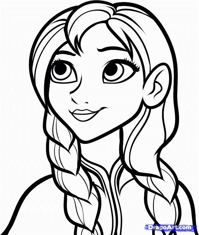 Princess Coloring Pages Frozen For Girls