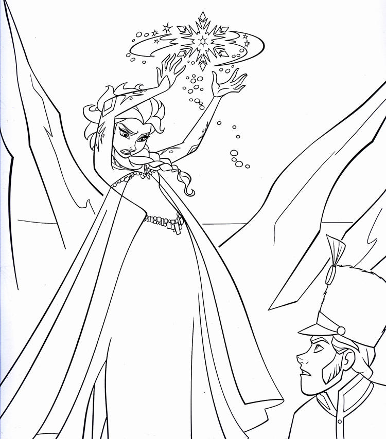 Princess Coloring Pages Frozen To Print Out