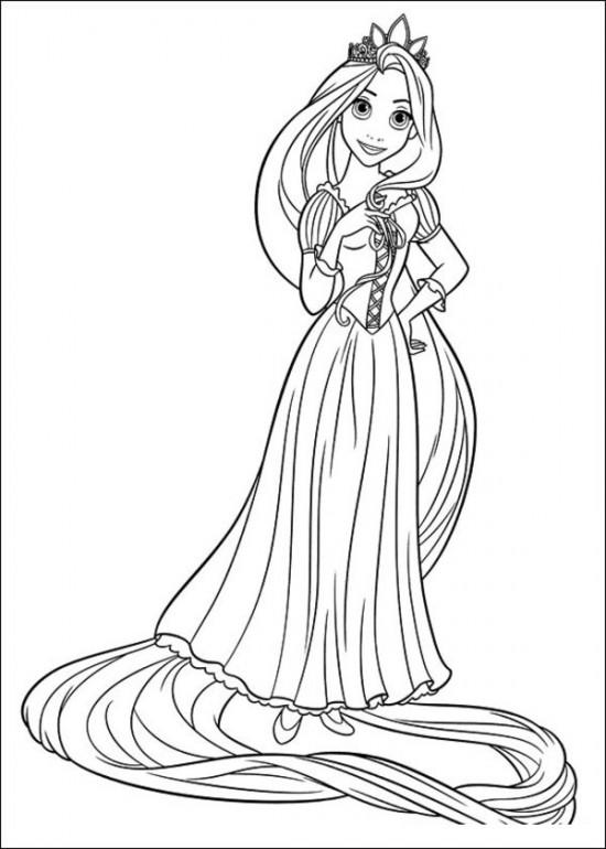 Princess Coloring Pages Rapunzel To Print Out