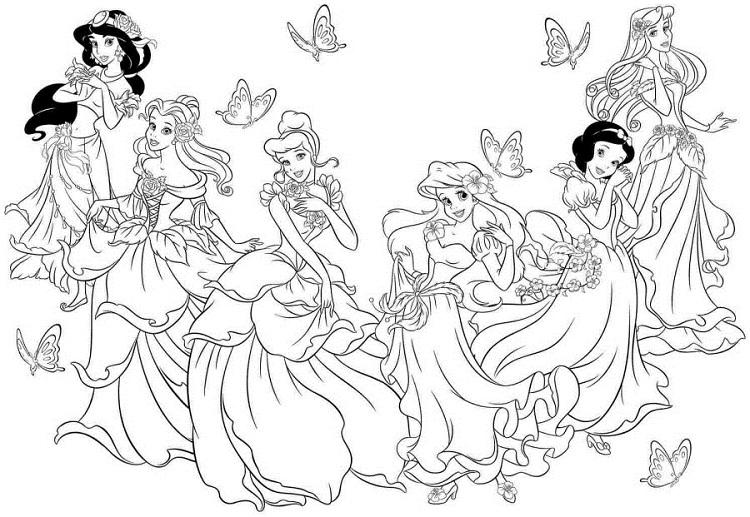 Princess Coloring Pages That Are Printable