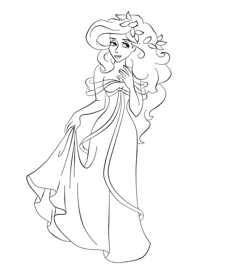 Princess Giselle Coloring Pages Disney Cartoon Character