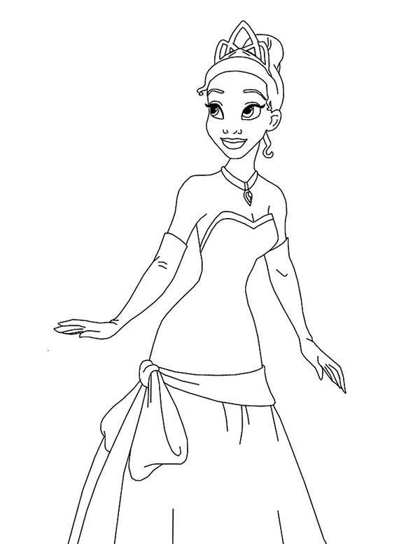Princess Is So Adorable In Princess And The Frog Coloring Pages