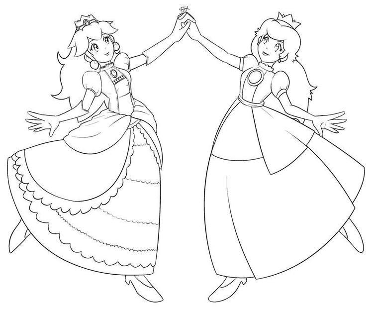 Princess Peach Coloring Pages And Daisy